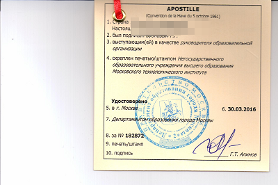 Апостиль документов для Украины